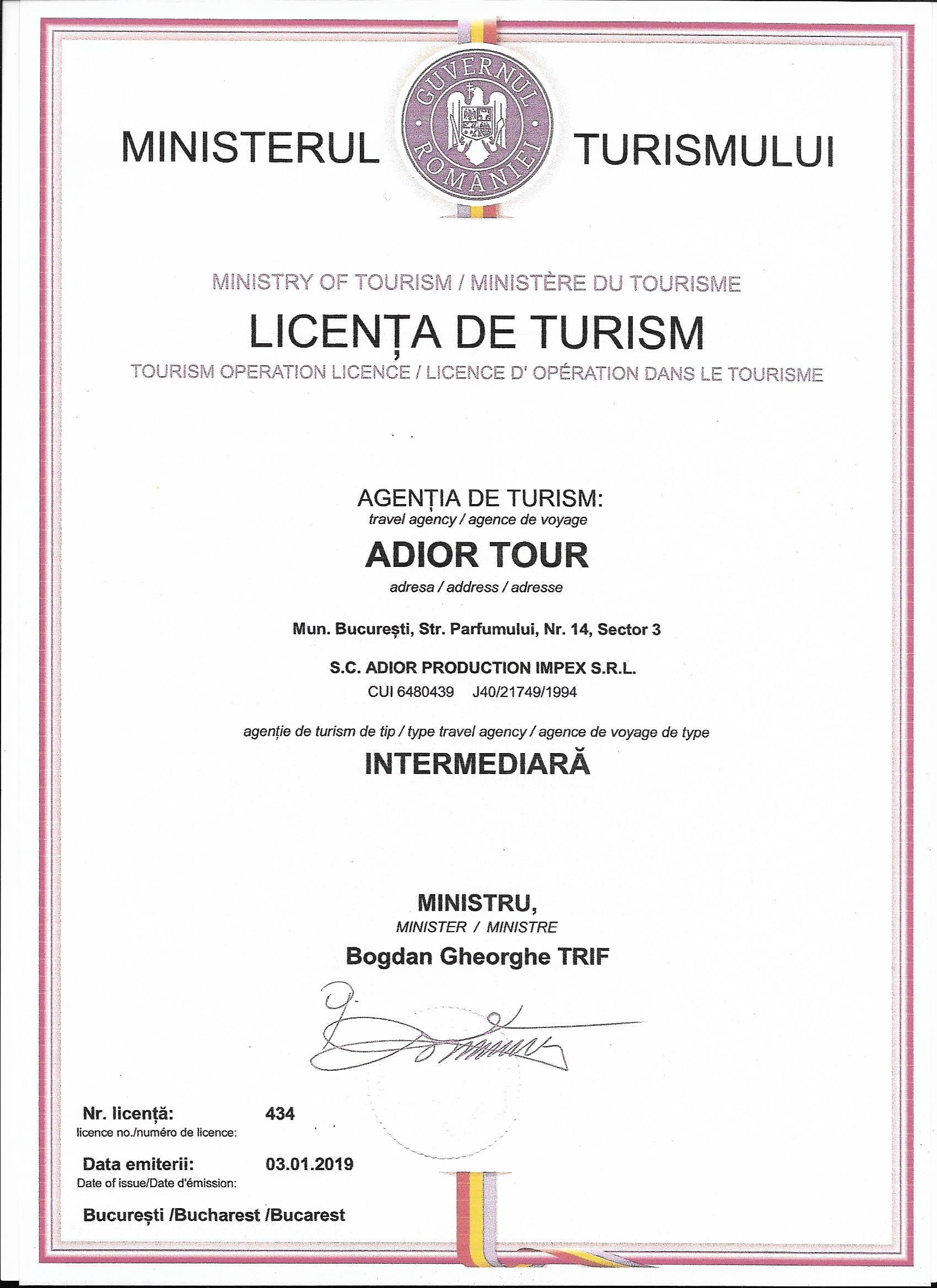 Licenta de Turism 2019